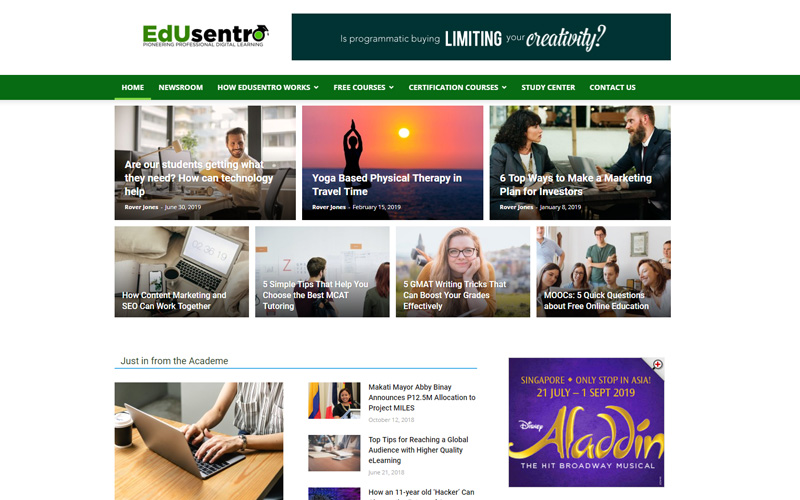 Edusentro website ranking